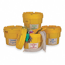 Spill Kit, Scrw Top Contnr, 8.5 gal