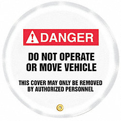 Danger Sign, 24 x 24In, R and BK/WHT, Vinyl