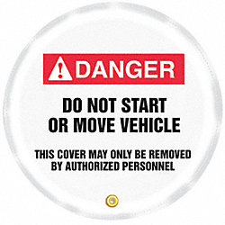 Danger Sign, 20 x 20In, R and BK/WHT, Vinyl