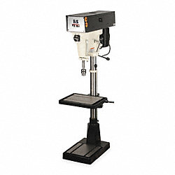 Floor Drill Press, 15  In, 1 HP, 115/230 V