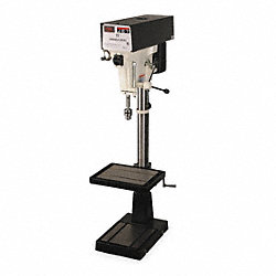 Floor Drill Press, 15  In, 1 HP, 220 V, 3 Ph