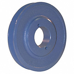 V-Belt Pulley, Spl Taper, 5.45 In OD, 1GRV