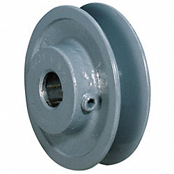 V-Belt Pulley, 2.5 In OD, 5/8 In Bore, 1GRV