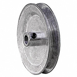 V-Belt Pulley, 4 In OD, 1/2 In Bore, 1GRV