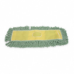 Looped End Dust Mop, 18 In, Green