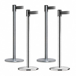 Indoor Portable Post, Satin Chrome