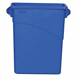 Wastebasket with Handles, Blue, 16 gal