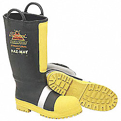 Struct/Hazmat Fire Boots, Men, 10-1/2M, 1PR