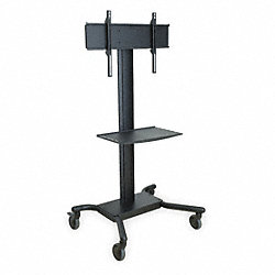 Flat Panel TV Cart, Cap 150 lb Total
