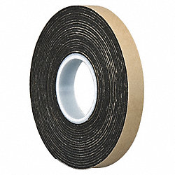 Double Coated Tape, 1 In x 5 yd., Black