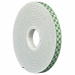 Double Coated  Tape, 3/4In x 5 yd., White
