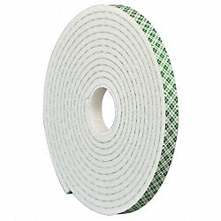 Double Coated  Tape, 1/2 In x 5 yd.