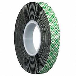 Double Coated  Tape, 2 In x 5 yd., Black