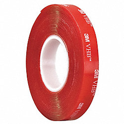 Double Sided VHB Tape, 1/2Inx5 yd., Clear