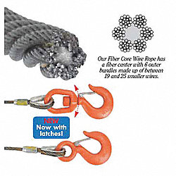 Winch Cable, GS, 7/16 In. x 50 ft.