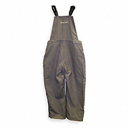 Bib Overalls, Gray, Cotton, 3XL