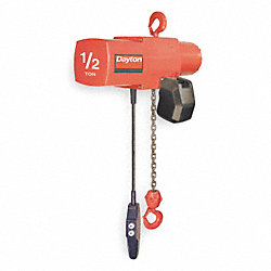 Electric Chain Hoist, 1000 lb, 20ft, 16 fpm