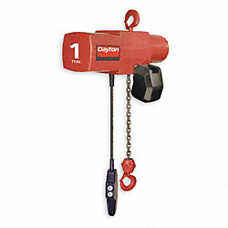 Electric Chain Hoist, 2000 lb, 20ft, 16 fpm