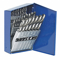 Drill Bit Set, 29 Piece, 1/16-1/2 In