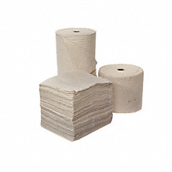 Absorbent Roll, White, 45 gal., 28 In. W