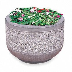 Concrete Security Planter, Round, Sand