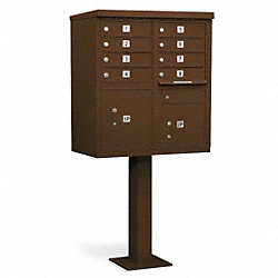 Cluster Box Unit, 8 Doors, Bronze