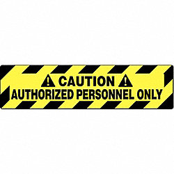 Floor Sign, Black/Yellow, 24 In. x 6 In.