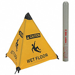 Floor Sign, Yellow, 31 In.