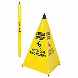Floor Sign, Yellow, 36 In.