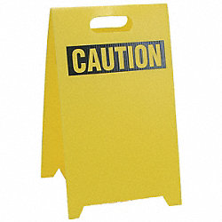 Floor Stand Safety Sign, 12 x 20
