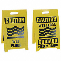 Floor Sign Reversible Wet Floor, 12 x 20