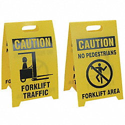 Floor Sign Reversible Fork Lift, 12 x 20