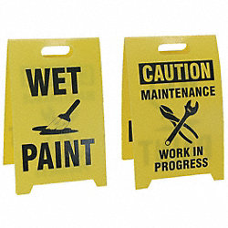 Floor Sign Reversible Wet Paint, 12 x 20