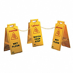 Floor Stand Sign, Yellow, 25 In.