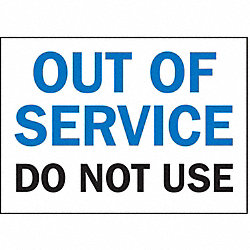 Service Sign, Out of Service Do Not Use
