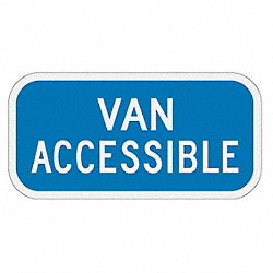 Parking Sign, 6 x 12In, WHT/BL, Text, R7-8B