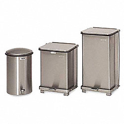 Waste Container 40 Gal Silent Step-on