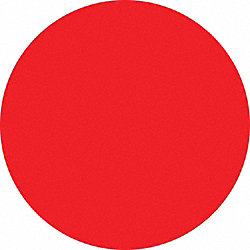 Red Dot Label, 3/4 In. H, 3/4 In. W, PK 300