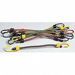 Bungee Cord, Hook, 18 In.L, PK 10