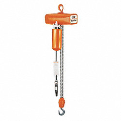 Electric Chain Hoist, 8 fpm, 115V