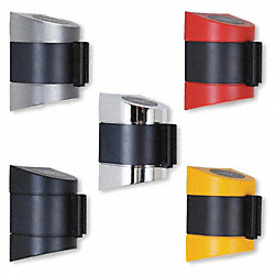 Belt Barrier, Chrome, Belt Color Yellow