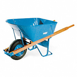 Wheelbarrow, Steel, 5.75 Cu. Ft., Pneumatic