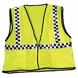 High Visibility Vest, Class 2, 3XL, Lime