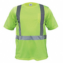 T-Shirt, Polyester, Lime, XL