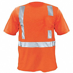 T-Shirt, Polyester, Orange, L