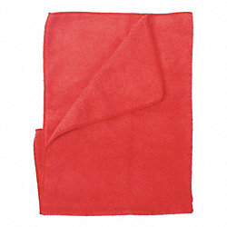 Microfiber Cloth, Red, PK 12