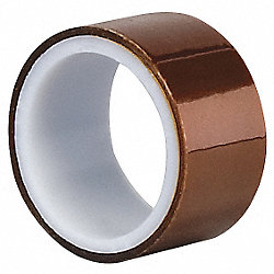 Film Tape, Polyimide, Amber, 3/4 In x 5 Yd