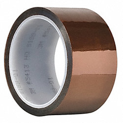 Film Tape, 6 In x 36 yd., Amber