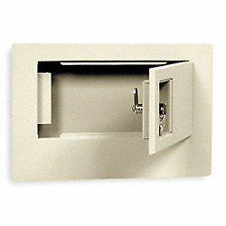 Wall Safe, 670 Cu.-In., Key Lock