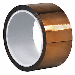 Film Tape, Polyimide, Amber, 2 In. x 50 Ft.